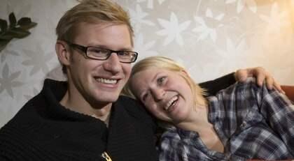 """Stefan Blomqvist och Thilde Höök har varit ett par sedan """"Bonde söker fru"""" 2009 och är snart färdiga med sitt drömhus. Foto: Mikael Wallerstedt"""