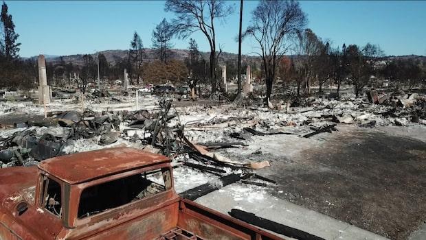 Klimatets offer - tusentals drabbade av skogsbränderna i Kalifornien