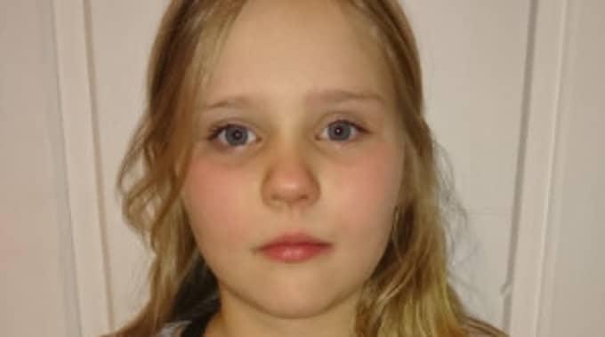9-åriga Emma Valtonen är en av eleverna i Anna Wiréns klass. Foto: / PRIVAT