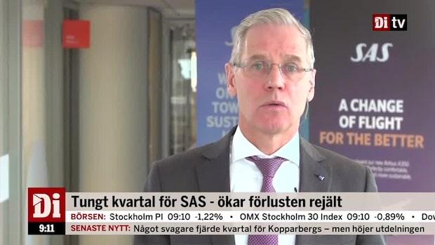 """SAS vd: """"Finns mycket att glädjas åt i kvartalet"""""""
