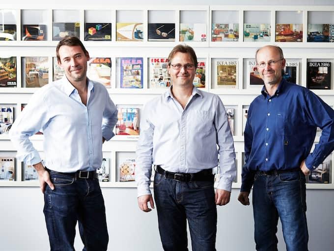 Sönerna Jonas, Mathias och Peter. Foto: / IKEA