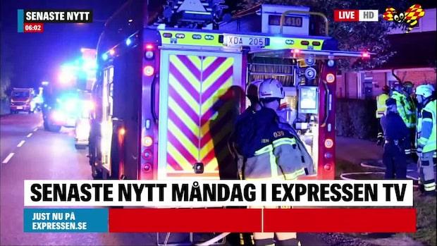 Äldre par till sjukhus efter brand i Malmö