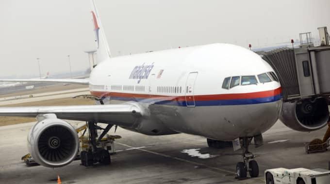 Planet på bilden är av samma modell som försvunna MH370. Foto: Diego Azubel / Epa / Tt