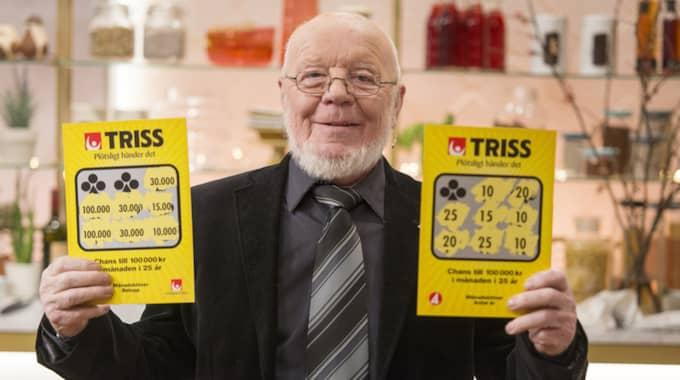 Curt Petersson, 83, skrapade fram 3,6 miljoner på Triss. Foto: SVENSKA SPEL