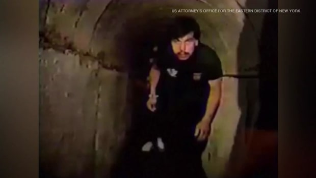 Videon visar El Chapos knarktunnel