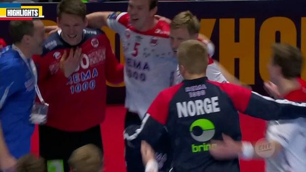 Höjdpunkter: Norge knep EM-bronset - krossade Vranjes Slovenien