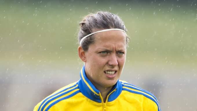 Lina Nilsson har också spelat 72 matcher för det svenska landslaget. Foto: CARL SANDIN / BILDBYRÅN