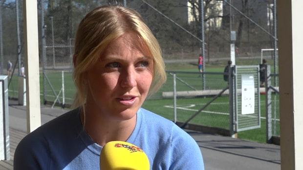 Noelle, 18, mister både fotbollen och studenten – veckor innan hon rycker in i militären