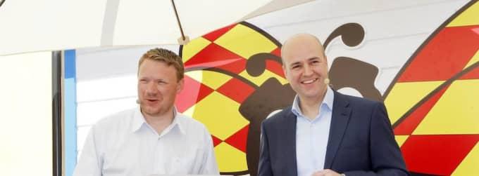 Niklas Svensson och statsminister. Foto: Cornelia Nordström