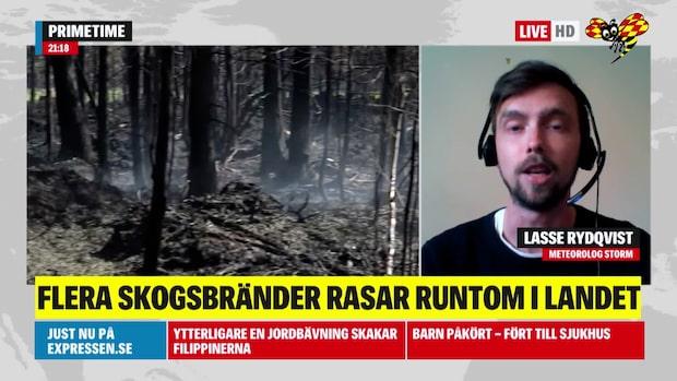 SMHI: Brandrisken sprider sig upp mot Västerbotten