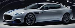 Aston Martin visar  lyxiga elbilen Rapide E