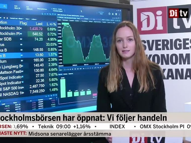 Börsöppning: Svagt uppåt för Stockholmsbörsen i inledande handel