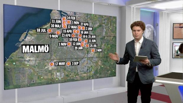 Här har det sprängts i Malmö under 2019