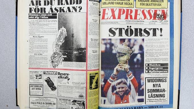 Expressens förstasida efter Björn Borgs femte Wimbledonseger 1980. Foto: - - / EXP