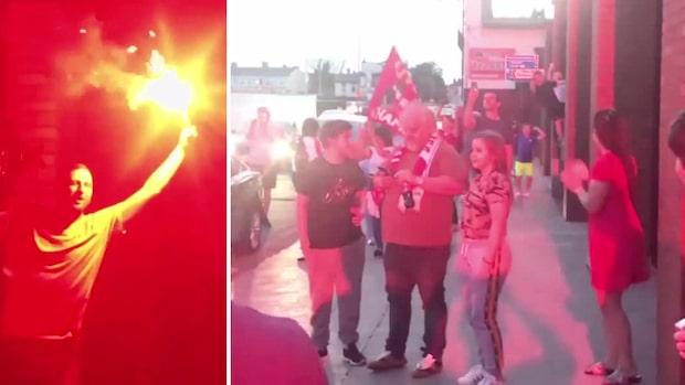 Så firade fansen när Liverpool blev mästare