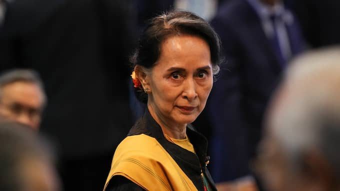 ...Aung San Suu Kyi fått en likadan av staden Dublin. Foto: ATHIT PERAWONGMETHA / POOL / EPA / TT / EPA TT NYHETSBYRÅN
