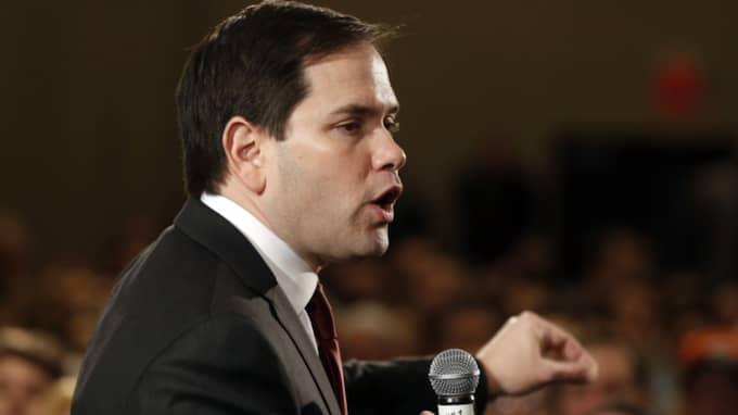 Marco Rubio – som kom tvåa i Nevada – försökte i går trösta sig med att Trump får färre röster än alla de andra tillsammans. Foto: AP/Jim Mone