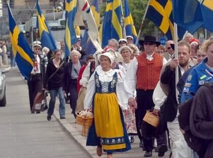 Firandet av Sveriges nationaldag i Göteborg. Foto: Lasse Linden