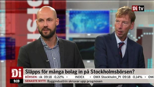 Släpps för många bolag in på Stockholmsbörsen?