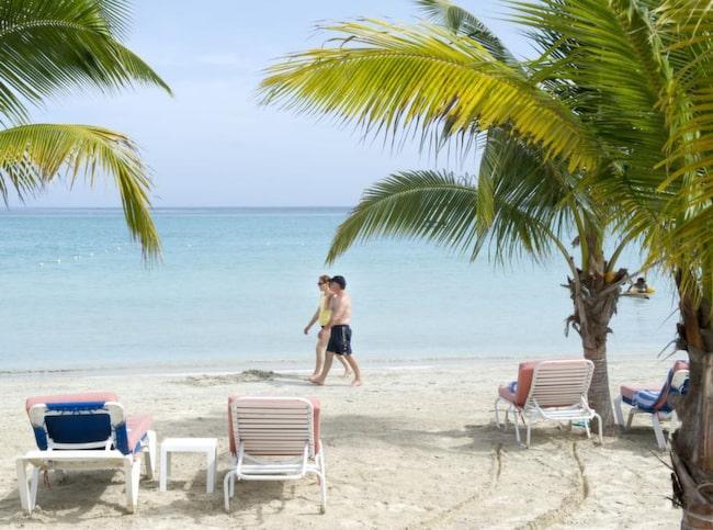 Bloody Bay Beach, strax norr in Seven ile Beach, lockar med blått hav och vacker strand.