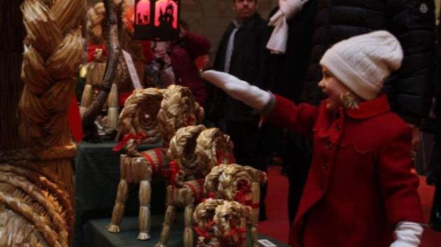 Estelle besökte Hovstallets julmarknad