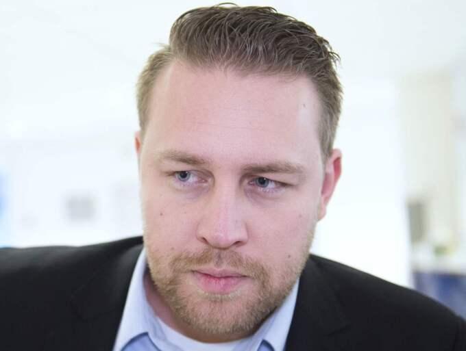 Mattias Karlsson kan utmana Jimmie Åkesson om partiledarposten i SD, enligt Expressens källor. Foto: Sven Lindwall