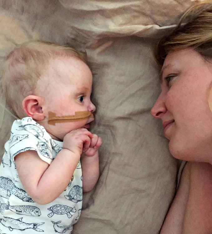Roy och mamma Maja. Foto: Privat/SVT