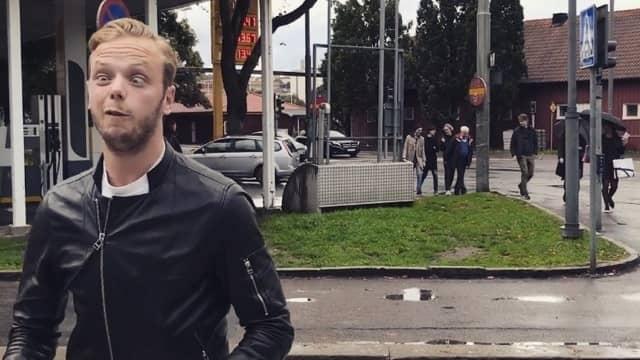 """""""När man är riktigt vansinnig – då kommer porslinsögat fram"""", säger Carl Déman som skelar med ögonen på klippen. Foto: PRIVAT"""