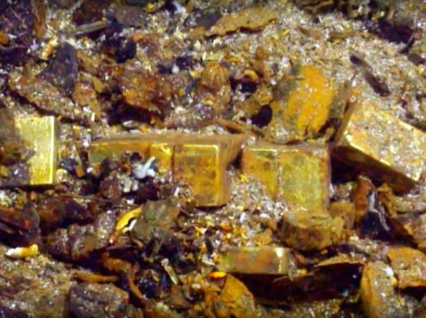 Guldet som legat på havsbotten sedan 1857 - säljs nu på auktion