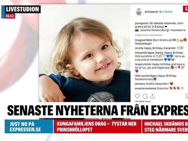 Prins Alexander fyller tre år – se den nya bilden