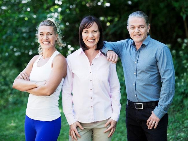 Coacherna som hjälperna dig i Wellie, pt Erika Kits Gölevik, KBT-terapeuten Maria Farm och näringsfysiologen Fredrik Paulún.