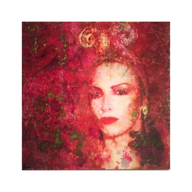 """Originalet """"Diva Annie"""" av konstnären Maria Larkman. Klicka på plusset i bilden för att handla hos LEVA&BO."""