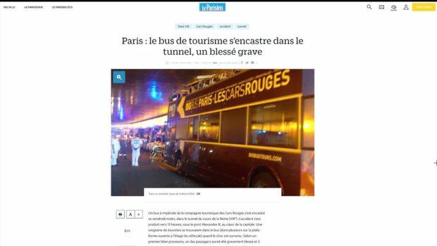 Turistbuss i krasch i Paris – flera skadade
