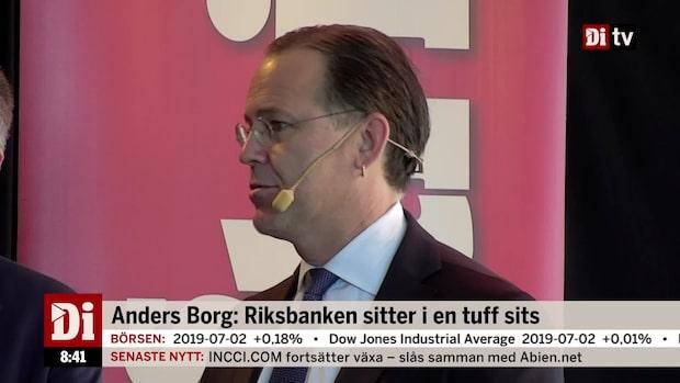 """Borg: """"Riksbanken kommer skjuta på räntehöjning"""