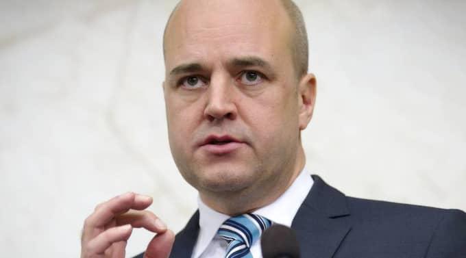 Fredrik Reinfeldts parti får 31,7 procent - ett tapp på 5,2 procentenheter sedan augusti. Foto: Roger Vikström