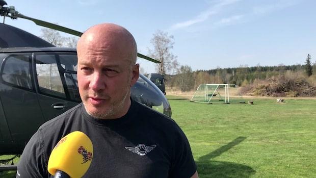 """Helikopterpiloten: """"Avsevärt mycket lugnare än igår"""""""