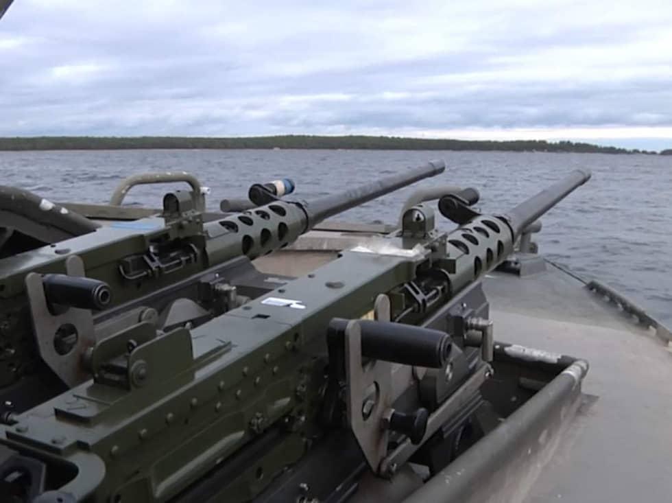 Försvarets egen bild från sökinsatsen. Foto: David Gernes/Försvarsmakten