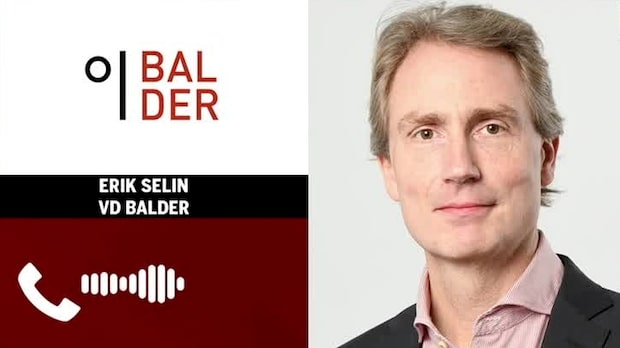 """Balders vd: """"Fastigheter är ganska trögrörligt"""""""