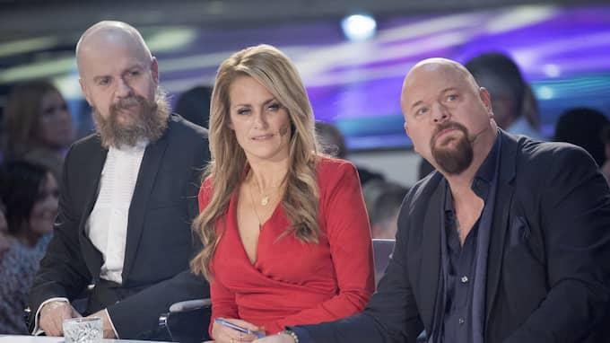 Idol-juryn med Alexander Bard, Laila Bagge, samt Anders Bagge. Foto: OLLE SPORRONG