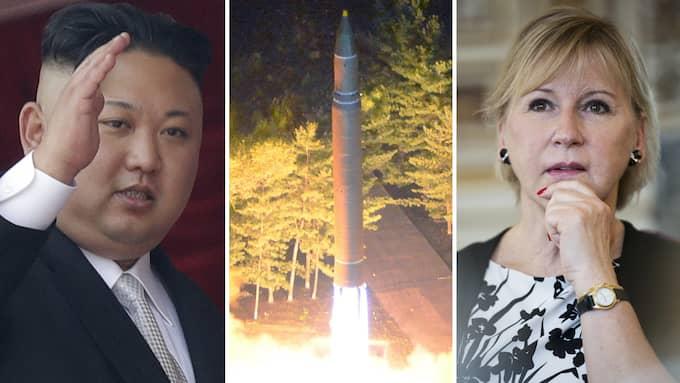 Det är klart att en värld utan kärnvapen vore önskvärd. Men när Kim Jong-Un rustar upp sina kärnvapen kan inte en demokrati som USA rusta ned. Foto: WONG MAYE-E/AP/TT, KCNA / EPA / TT /, LISA MATTISSON/EXP