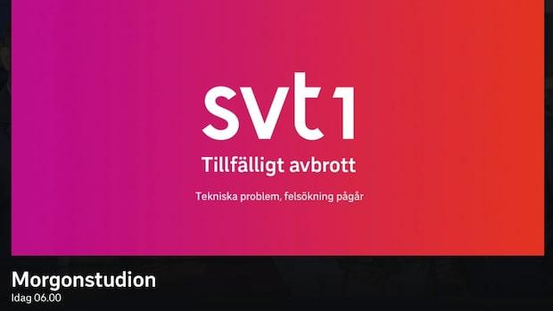 SVT bryter sändningen efter tekniska problem