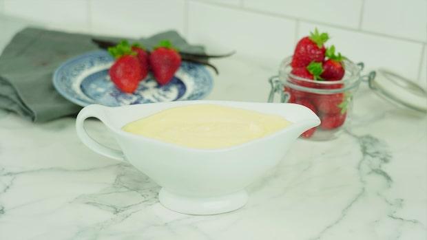 Vaniljkräm med äkta vaniljstång