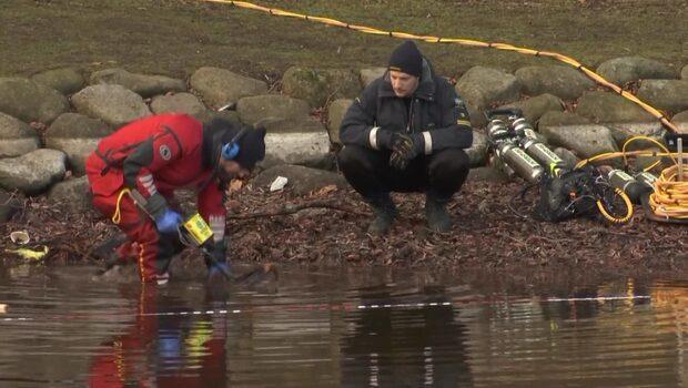 Dykare fortsätter att söka i Pildammsparken