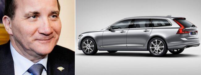 Stefan Löfven fick en privat visning av nya Volvon.