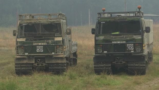 Militären på plats i Ljusdal för att släcka skogsbränderna