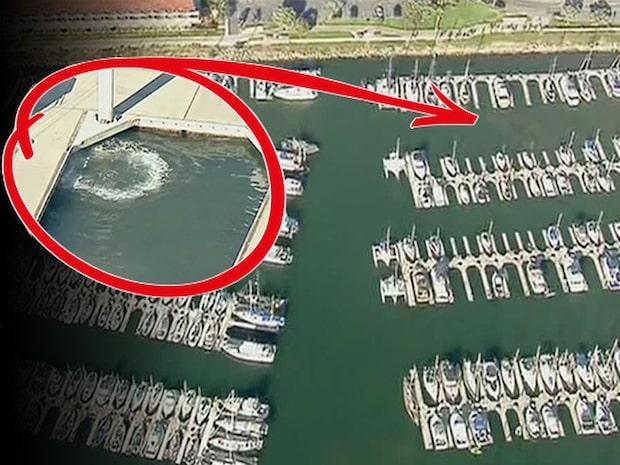 Drönaren upptäcker valens panik – bland båtarna