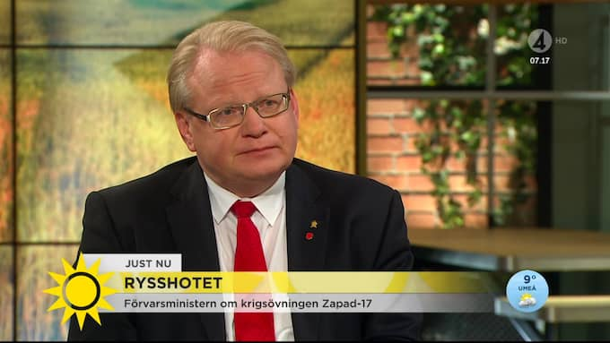 Hultqvist gästade TV4:s Nyhetsmorgon på torsdagen Foto: TV4