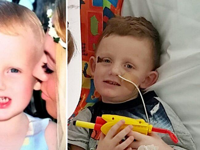 Pojken blev svårt sjuk.