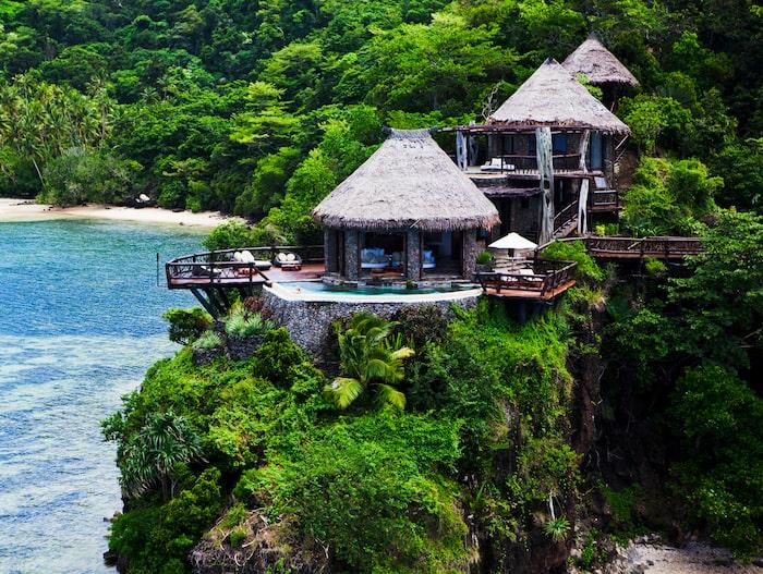 Laucala Island är 12 kvadratkilometer.