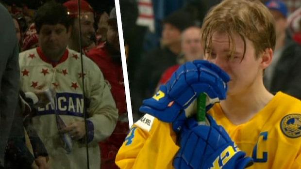 Här slänger svenske stjärnan sin medalj
